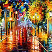 Improvisation Of Lights - Palette Knife Oil Painting On Canvas By Leonid Afremov Art Print