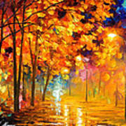 Improvisation Of Trees - Palette Knife Oil Painting On Canvas By Leonid Afremov Art Print