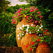 In A Portuguese Garden - Digital Oil Art Print