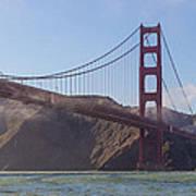 In Flight Over Golden Gate Art Print by Scott Campbell