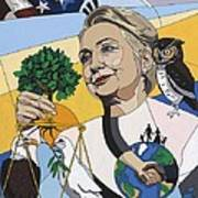 In Honor Of Hillary Clinton Art Print by Konni Jensen