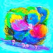 In Love Birds - Lorikeets Art Print