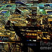 In Perspective - Fire Escapes - Old Buildings Of New York City Art Print