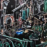 In Sospensione - Wallpaper Venice Italy - Venedig Kunstausstellung Art Print