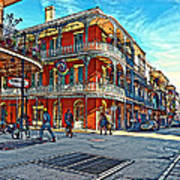 In The French Quarter Painted Art Print