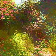 In The Garden Art Print by Pamela Cooper