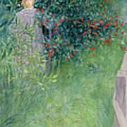 In The Hawthorn Hedge Art Print