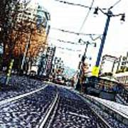 In The Path Of A Cable Car Art Print