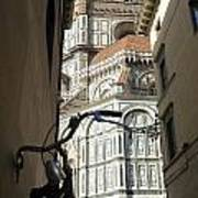 In The Shadow Of Il Duomo Art Print