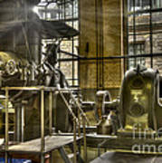 In The Ship-lift Engine Room Art Print