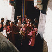In Tibet Tibetan Monks 5 By Jrr Art Print
