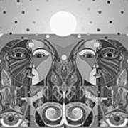 In Unity And Harmony In Grayscale Art Print