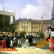 Inauguration Of A Monument In Memory Of Louis Xvi 1754-93 By Charles X 1757-1836 At The Place De La Art Print