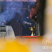 Incense Presentation At Yonghegong Temple 2 Of 5 Art Print