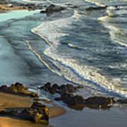 Incoming Waves At Bandon Beach Oregon Art Print