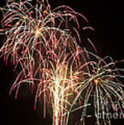 Independence Day Fireworks Art Print