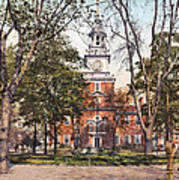 Independence Hall 1900 Art Print