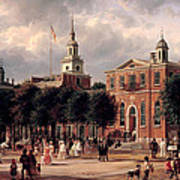 Independence Hall In Philadelphia Art Print