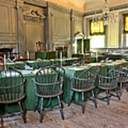Independence Hall Art Print by Olivier Le Queinec