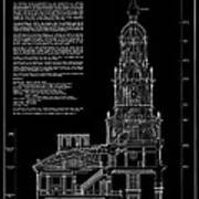 Independence Hall Transverse Section - Philadelphia Art Print