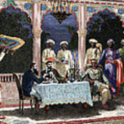 India  British Colonial Era  Banquet At The Palace Of Rais In Mynere Art Print