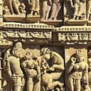 India. Khajraho. Jain Temple Art Print