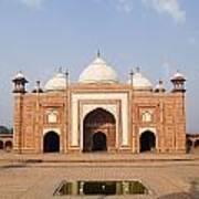 India, Next To Taj Mahal Agra, Taj Art Print