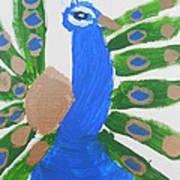 Indian Blue Peacock Art Print