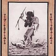 Indian Buffalo Dancer Art Print by Billie Bowles