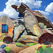 Indian Canyon Rocks Art Print