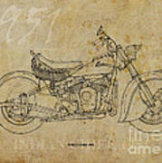 Indian Chief 1951 Art Print by Pablo Franchi