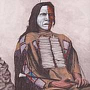 Indian Chief Red Cloud Art Print by Billie Bowles