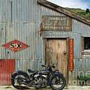 Indian Chout At The Old Okains Bay Garage 1 Art Print