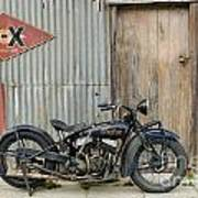 Indian Chout At The Old Okains Bay Garage 2 Art Print