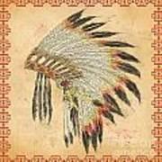 Indian Head Dress-a Art Print