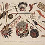 Indian Implements And Arms Art Print