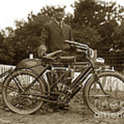 Indian Camelback Motorcycle Circa 1908 Art Print