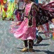 Indian Princess Dancer Art Print