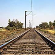 Indian Railroad Cables Art Print