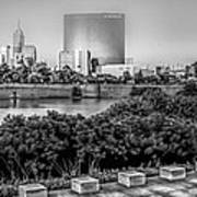 Indiana - Downtown From Across White River Panoramic Art Print