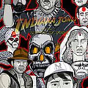 Indiana Jones Temple Of Doom Art Print by Gary Niles