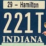 Indiana License Plate Art Print