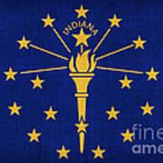 Indiana State Flag Art Print