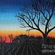 Indiana Sunset Art Print