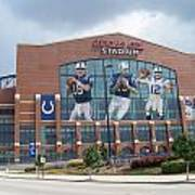 Indianapolis Colts Lucas Oil Stadium Art Print