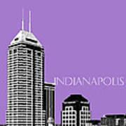 Indianapolis Indiana Skyline - Violet Art Print