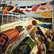 Indianapolis Motor Speedway - Vintage Lithograph Art Print