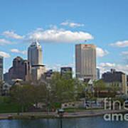 Indianapolis Skyline Blue 2 Art Print by David Haskett