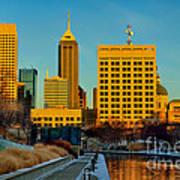 Indianapolis Skyline Dynamic Art Print by David Haskett