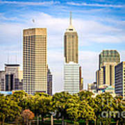 Indianapolis Skyline Picture Art Print